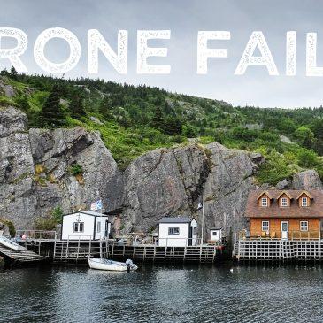 Drone fail in St. John's, NL