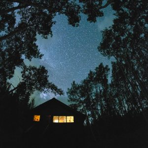 Stars above the Burn Hut, San Juan Mountains